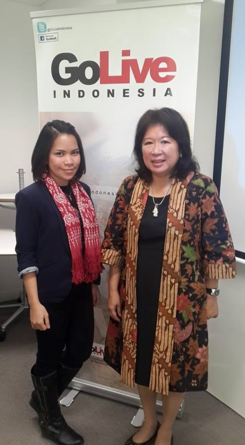 Me and Dr. Mari Pangestu