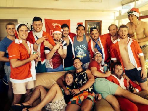 Christmas party with UQRFC rugby teammates.